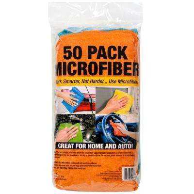 Microfiber Car Cleaning Cloths (50-Pack)