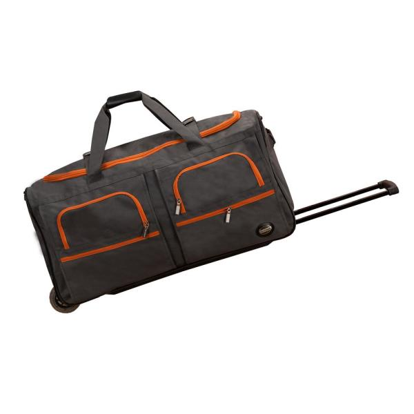 Rockland Rockland Voyage 30 in. Rolling Duffle Bag, Charcoal PRD330-CHARCOAL