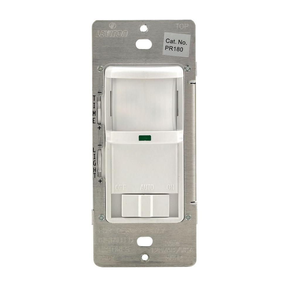 white leviton motion sensors r52 pr180 1lw 64_1000 leviton 500 watt 180� white occupancy sensor r52 pr180 1lw the leviton pr180 wiring diagram at creativeand.co