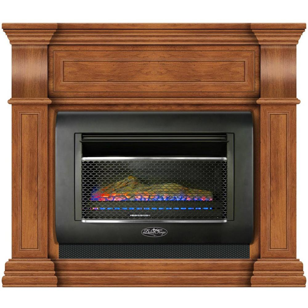 Duluth Forge 44 In Ventless Dual Fuel Gas Wall Fireplace In