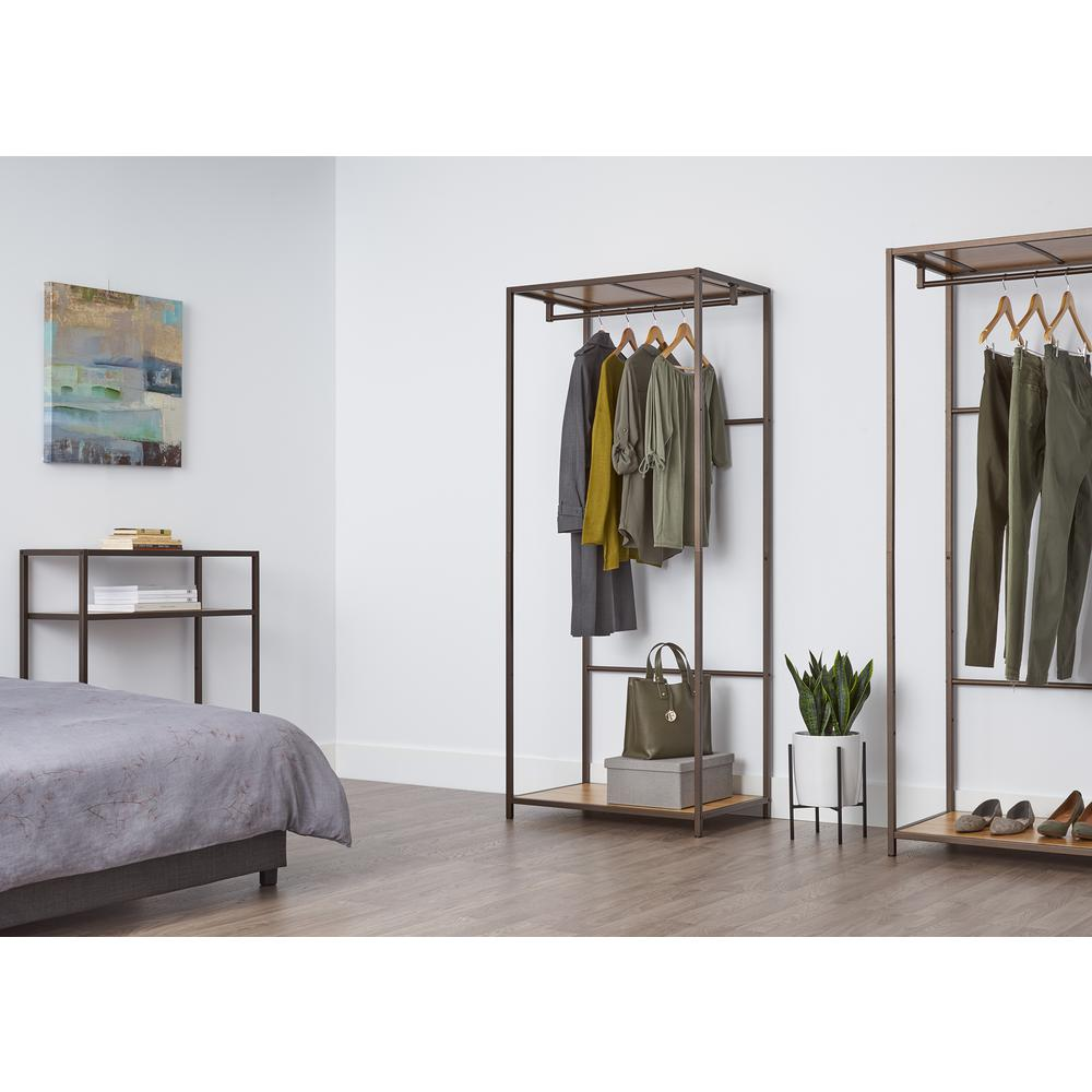 Trinity 30 in. x 72 in. Bronze Anthracite Bamboo Garment Rack