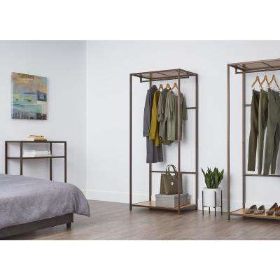 30 in. x 72 in. Bronze Anthracite Bamboo Garment Rack