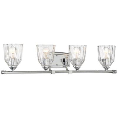 D'or 4-Light Chrome Bath Light