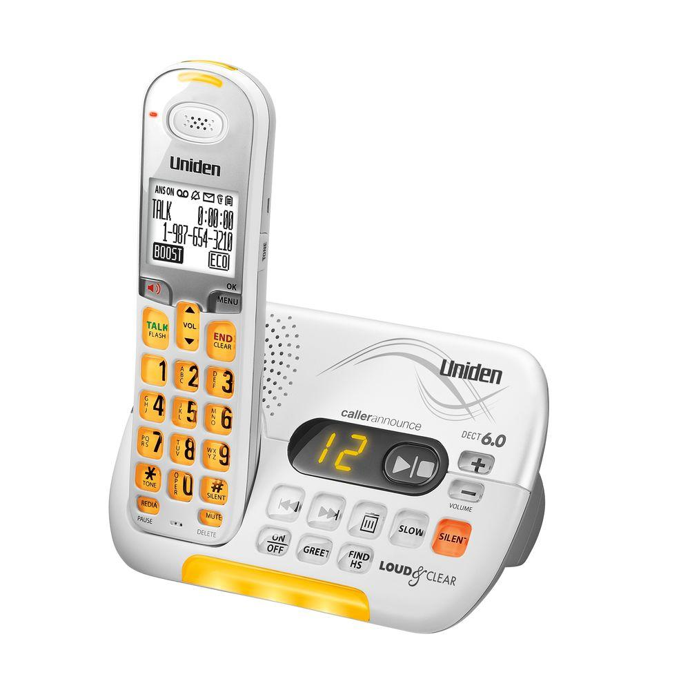 Uniden Loud and Clear DECT 6.0 Cordless Phone with Digital Answering System and Amplified Audio-DISCONTINUED
