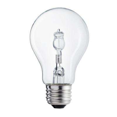 60-Watt Equivalent A19 Clear Light Bulb (2-Pack)