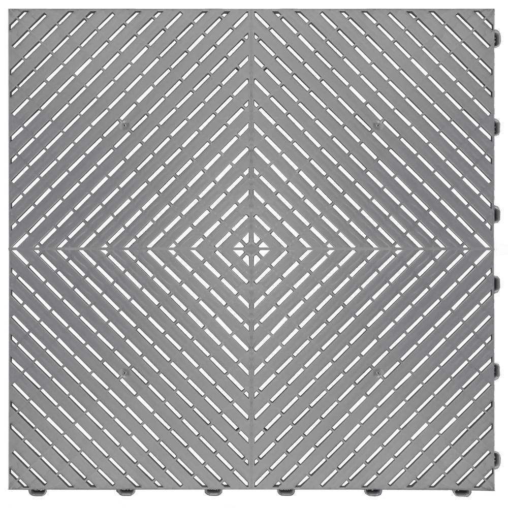 Silver Ribtrax Smooth Eco Flooring