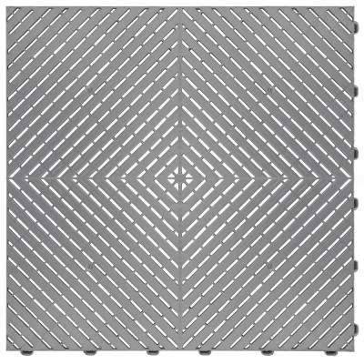15.75 in. x 15.75 in. Silver Ribtrax Smooth ECO Flooring (6-Tile / pack) (10 sq. ft.)
