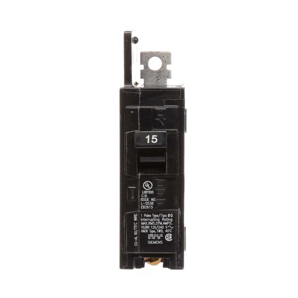 15 Amp 1-Pole BQ 10 kA Lug-In/Lug Out Circuit Breaker