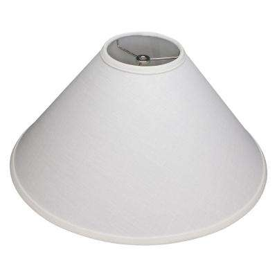 18 in. W x 9 in. H Off White/Nickel Hardware Coolie Lamp Shade