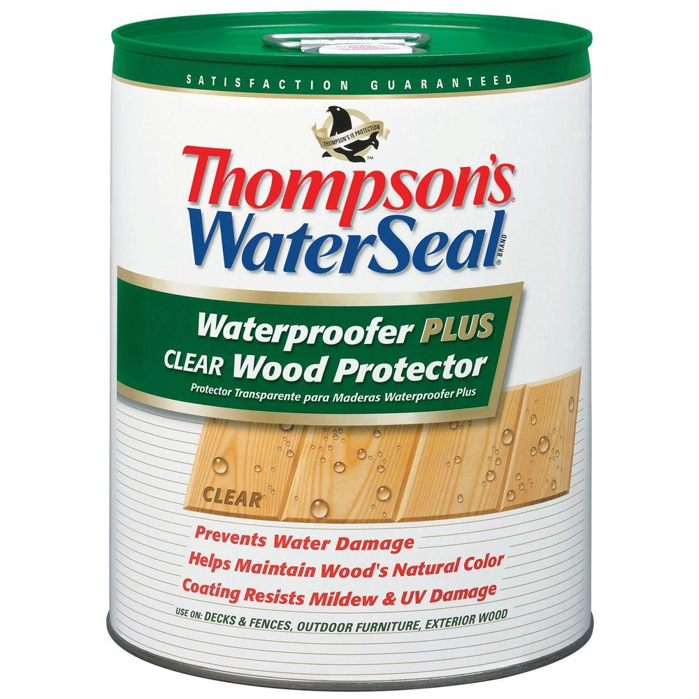 Thompson S Waterseal 5 Gal Waterproofer Plus Clear Wood Protector