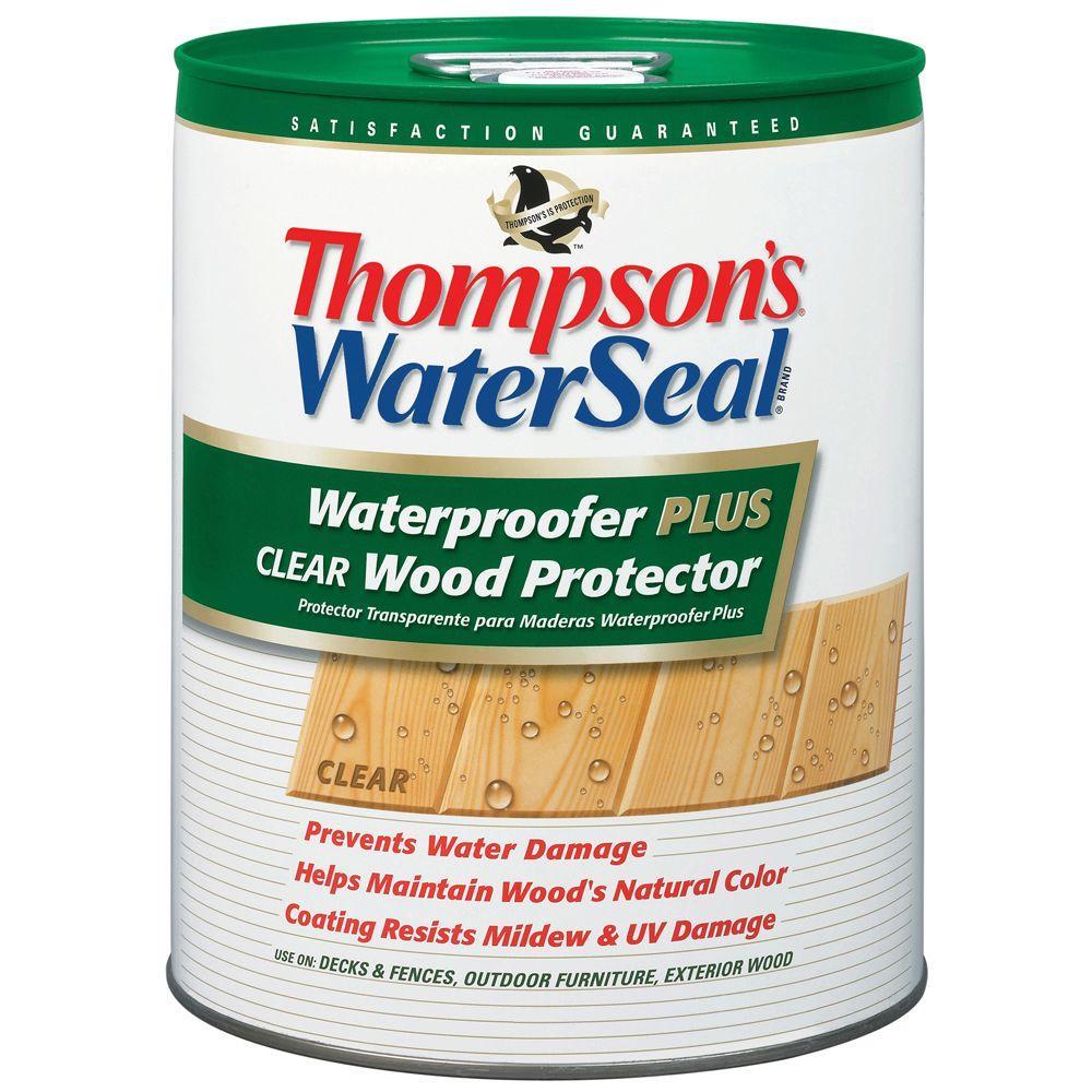 Thompson S Waterseal 5 Gal Waterproofer Plus Clear Wood Protector