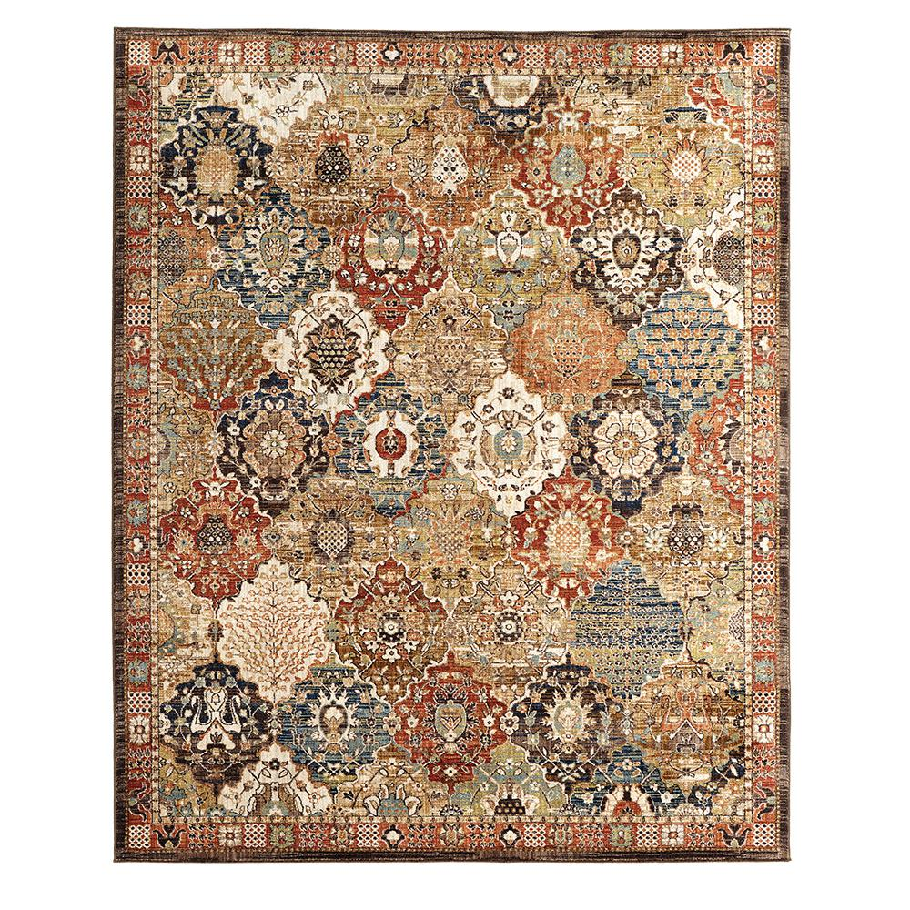 Home decorators collection patchwork medallion multi 5 ft for Home depot home decorators