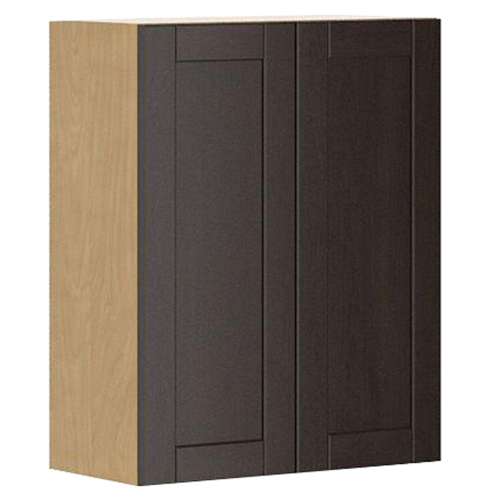 Ready to Assemble 24x30x12.5 in. Barcelona Wall Cabinet in Maple Melamine