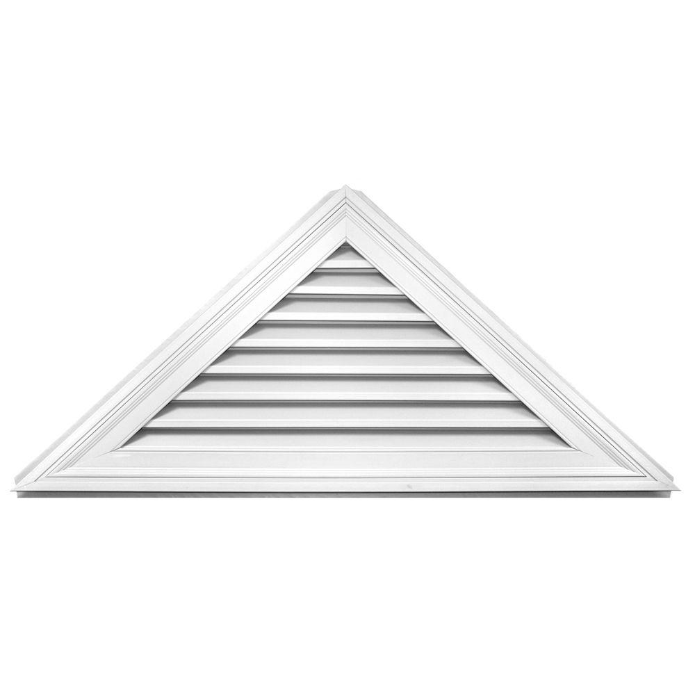 11/12 Triangle Gable Vent 001 White
