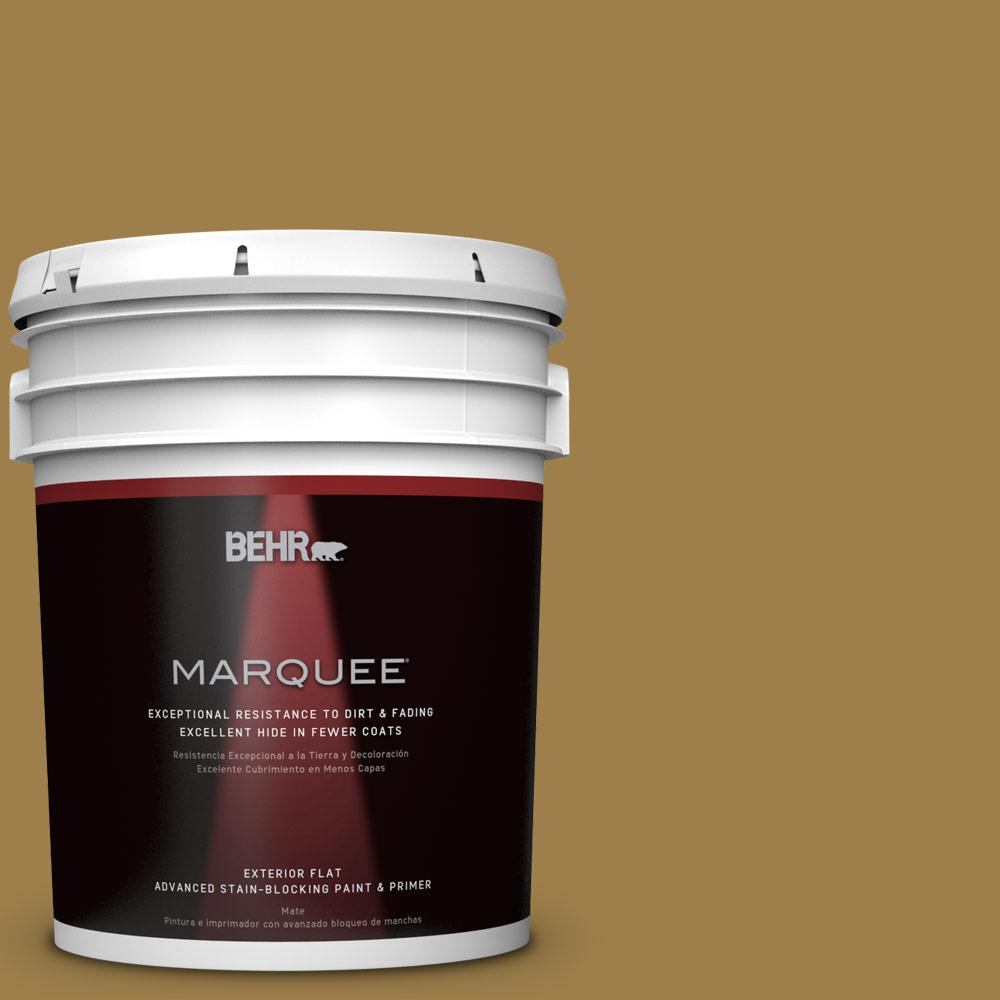 5-gal. #S310-6 Gold Ink Flat Exterior Paint