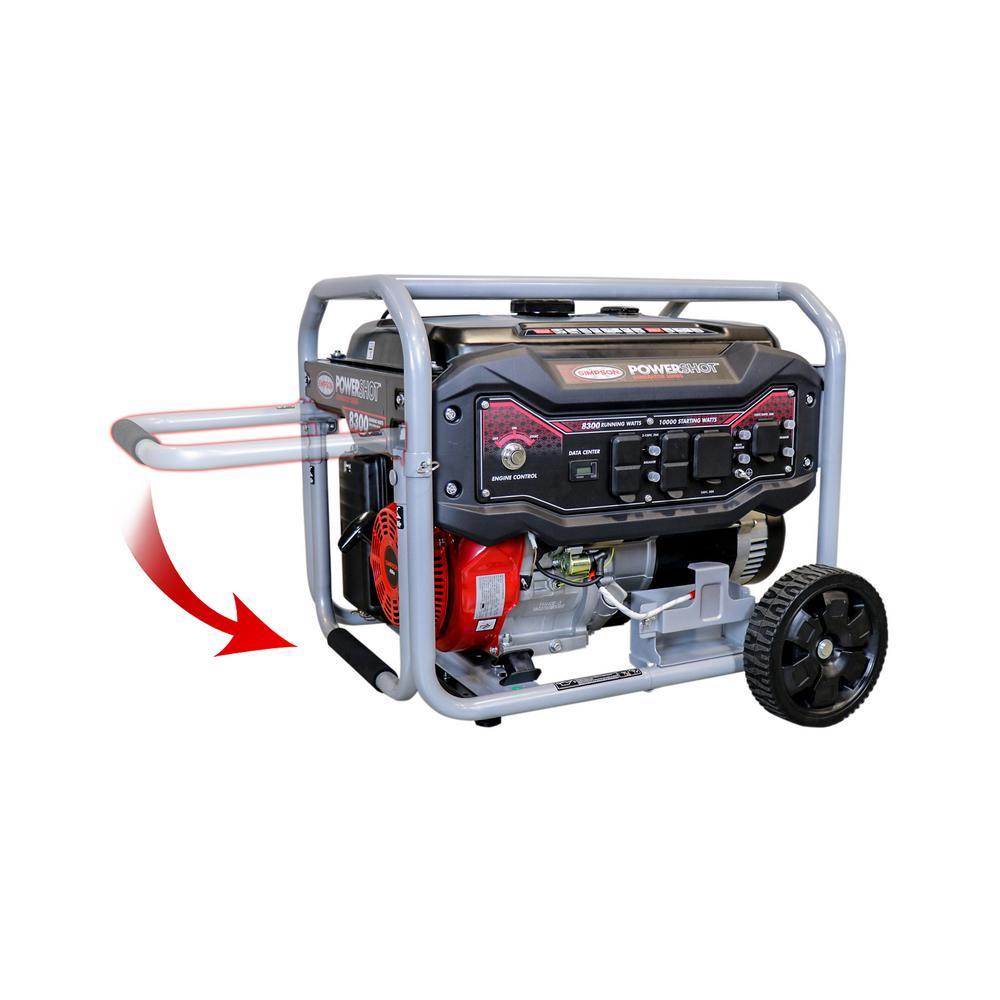 8,300-Watt Gasoline Powered Electric Start Portable Generator