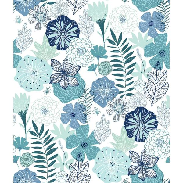 RoomMates 28.18 sq. ft. Perennial Blooms Peel and Stick Wallpaper RMK11325WP