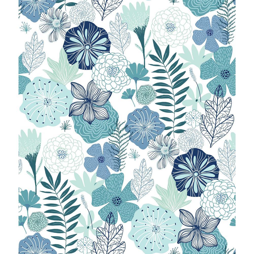 Perennial Blooms Vinyl Peelable Wallpaper (Covers 28.18 sq. ft.)