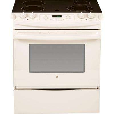 4.4 cu. ft. Slide-In Electric Range with Self-Cleaning Oven in Bisque