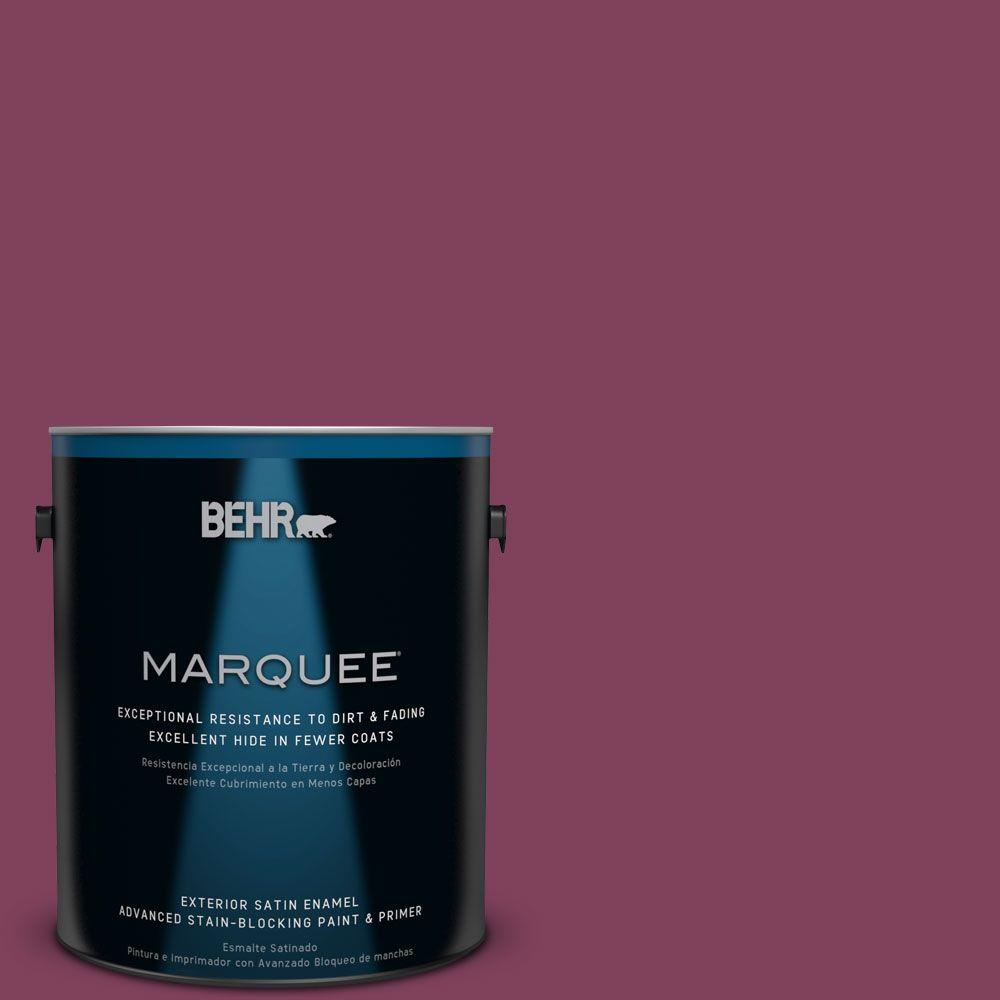 BEHR MARQUEE Home Decorators Collection 1-gal. #hdc-WR14-12 Cheerful Wine Satin Enamel Exterior Paint, Reds/Pinks