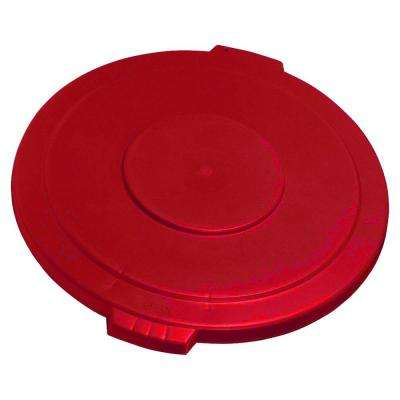Bronco 44 Gal. Red Round Trash Can Lid (3-Pack)