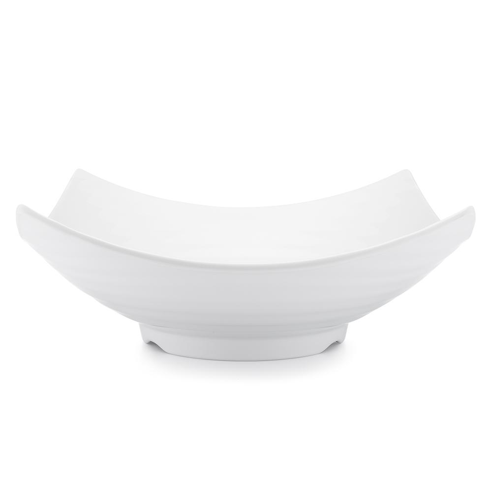Zen 12.5 in. White Melamine Serving Bowl