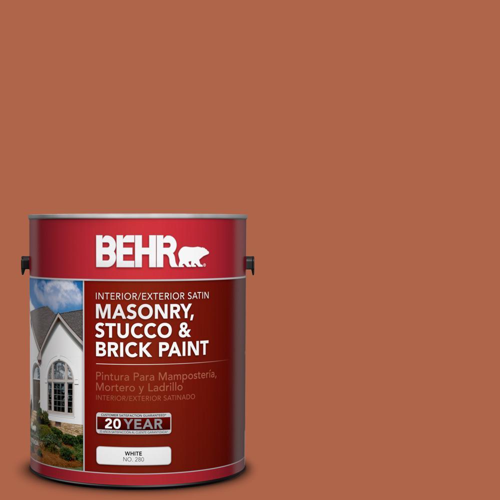1 gal. #M200-7 Rusty Gate Satin Interior/Exterior Masonry, Stucco and Brick Paint