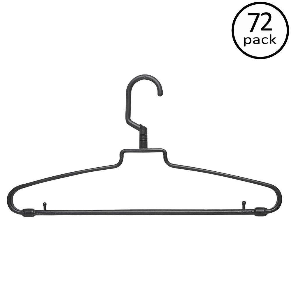 Brown Hotel Style Hangers (72-Pack)