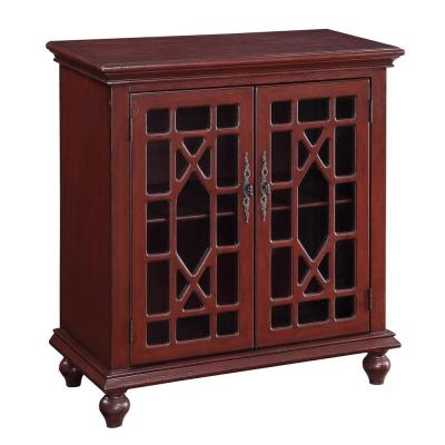 Esnon Texture Red 2-Door Cabinet