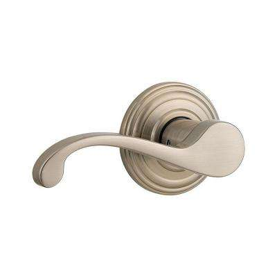 Commonwealth Satin Nickel Left-Handed Half-Dummy Door Lever with Microban Antimicrobial Technology