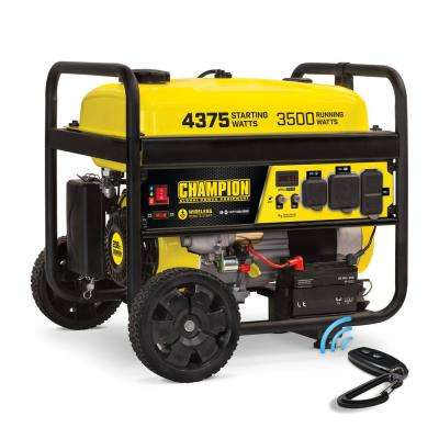 4375/3500-Watt Gasoline Powered RV Ready Portable Generator with Wireless Remote Start (EPA)