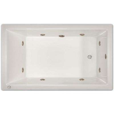 6 ft. Right Drain Drop-In Whirlpool Tub in White