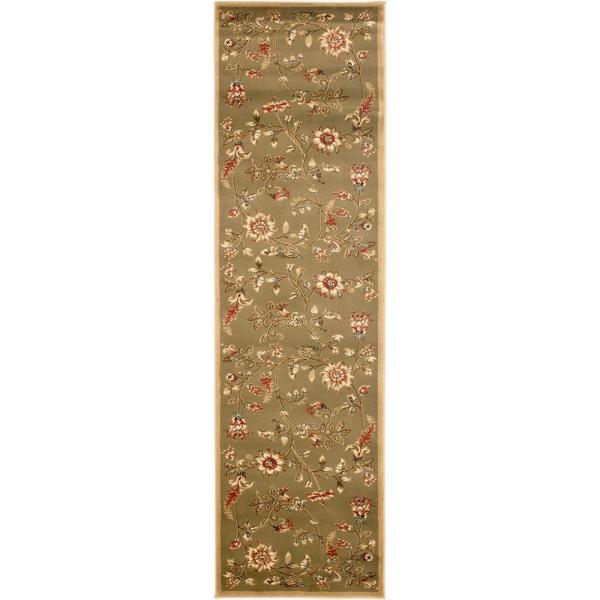 Lyndhurst Green/Multi 2 ft. x 16 ft. Runner Rug