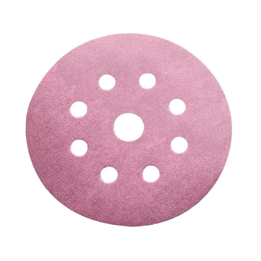 Diablo 5 in. 180-Grit 9-Hole Sanding Disc with Hook 'n Loop Backing (100-Pack)