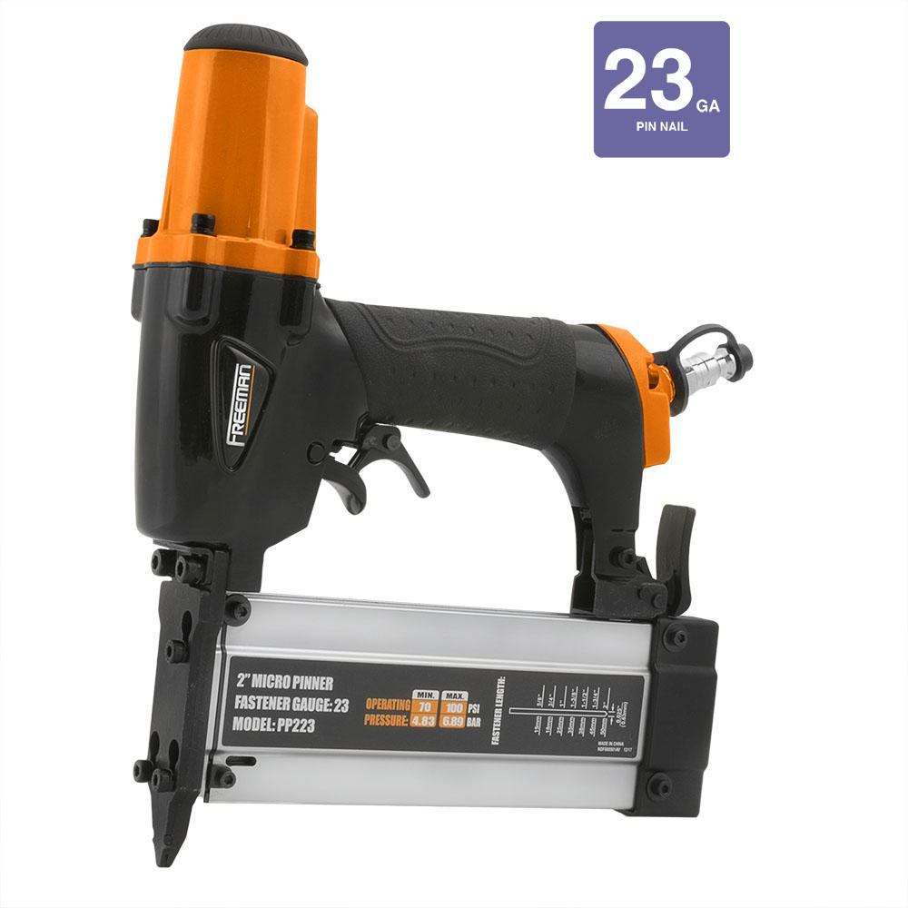 Pneumatic 23-Gauge 2 in. Cordless Micro Pin Nailer with Carry Case