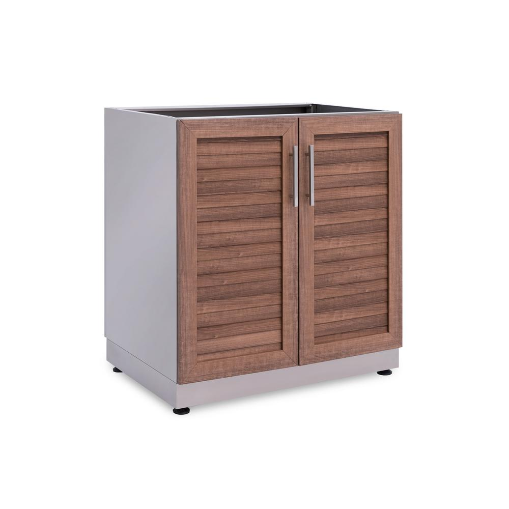 Natural Kitchen Cabinets: NewAge Products Natural Cherry 32 In. 2 Door Base 32 In. W