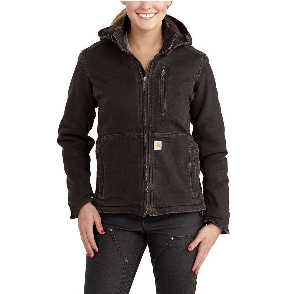 52bc1b9761807 Women's X-Large Dark Brown/Shadow Sandstone Full Swing Caldwell Duck Jacket