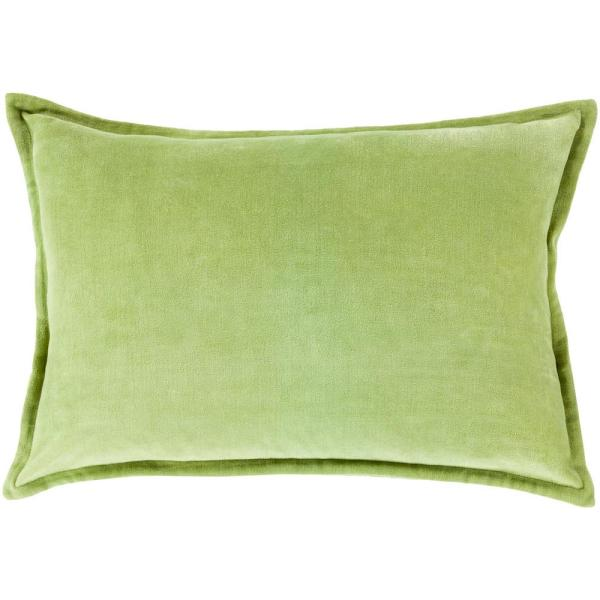 Velizh Olive Solid Polyester 19 in. x 19 in. Throw Pillow