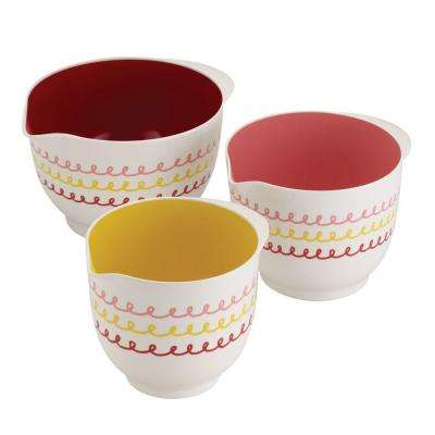 Countertop Accessories 3-Piece Melamine Mixing Bowl Set
