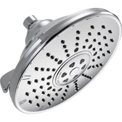 3-Spray 8 in. Single Wall Mount Fixed Rain Shower Head in Chrome