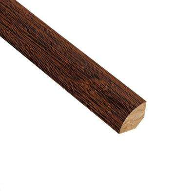 Brushed Horizontal Rainforest 3/4 in. Thick x 3/4 in. Wide x 94 in. Length Bamboo Quarter Round Molding