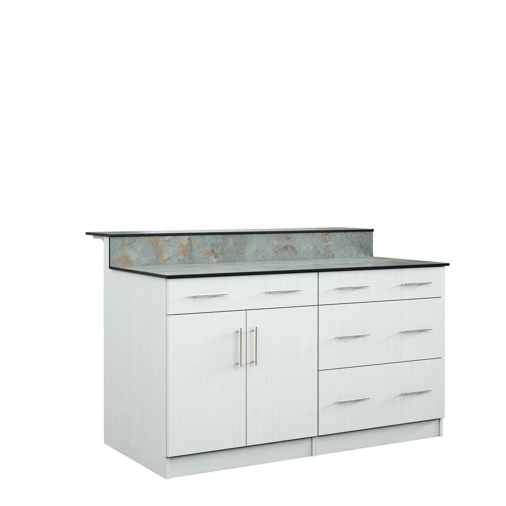 Miami 59.5 in. Outdoor Bar Cabinets with Countertop 2 Door and