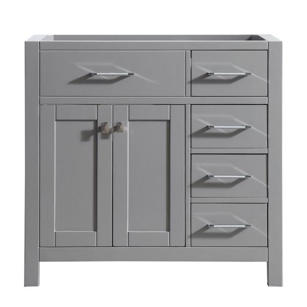 Caroline Parkway 36 in. W Bath Vanity Cabinet Only in Cashmere Gray