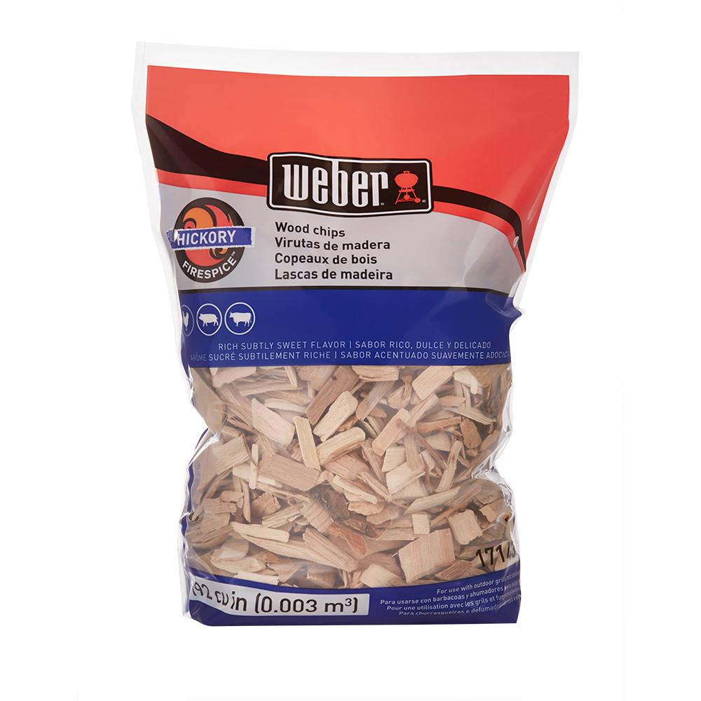Weber Hickory Wood Chips 17143 The Home Depot