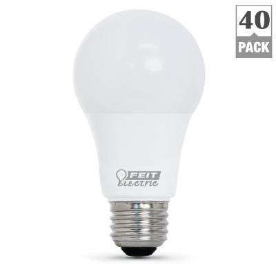 60-Watt Equivalent Bright White (3000K) A19 LED Light Bulb (40-Pack)