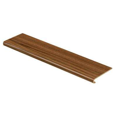 Teak 47 in. Long x 12-1/8 in. Deep x 1-11/16 in. Height Vinyl to Cover Stairs 1 in. Thick