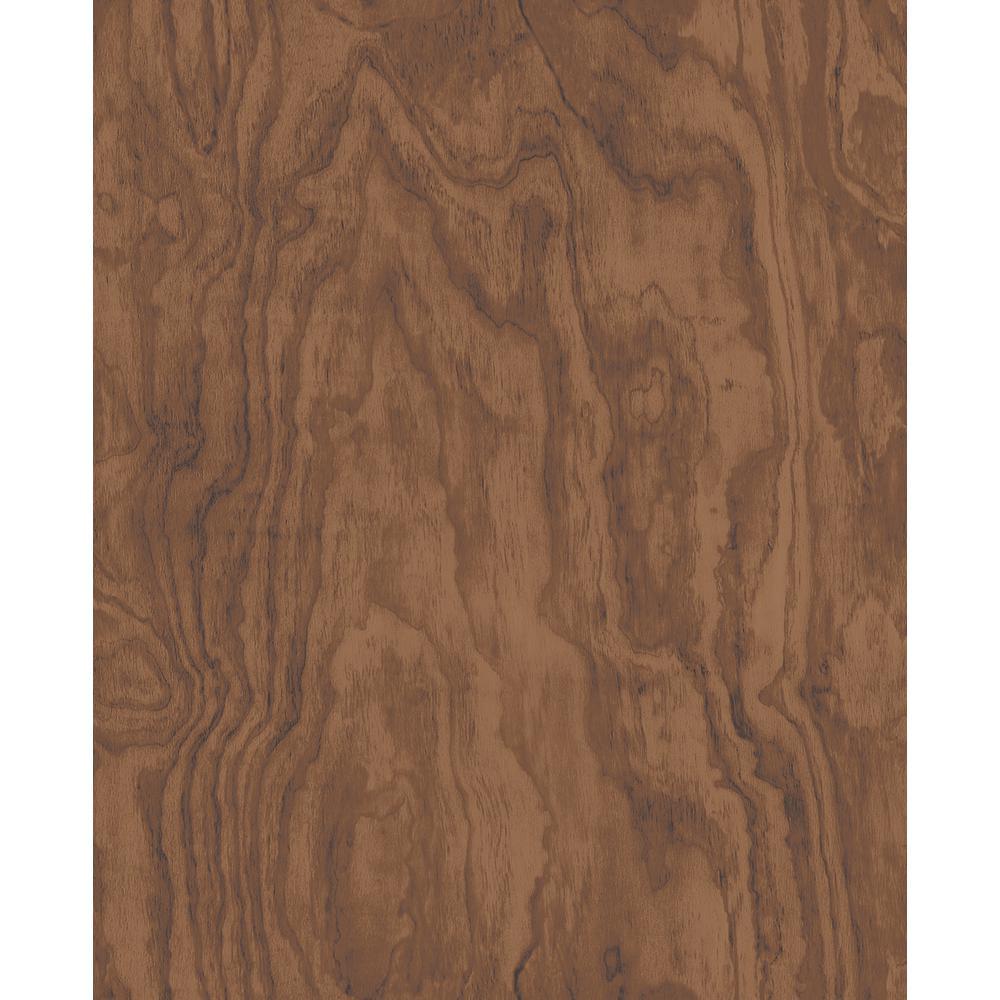 Bentham Brown Plywood Wallpaper Sample