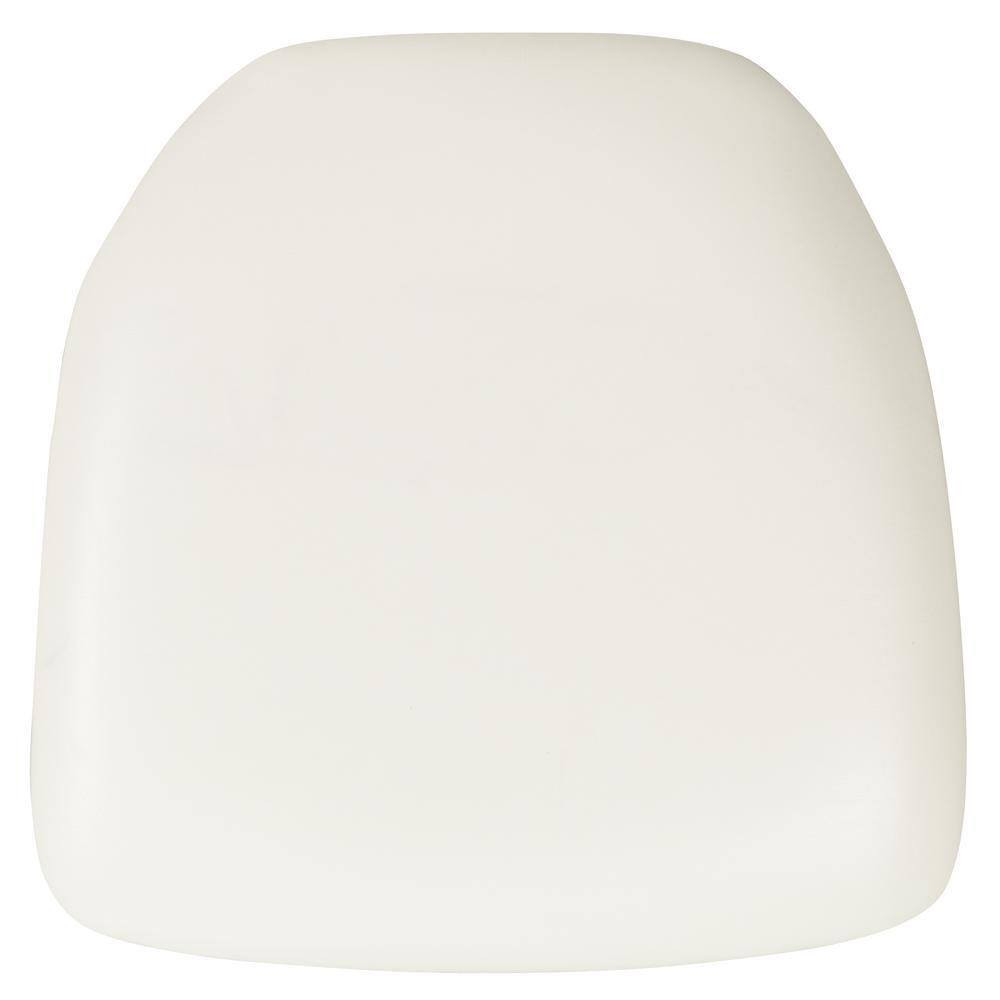 Flash Furniture Hard White Vinyl Chiavari Chair Cushion
