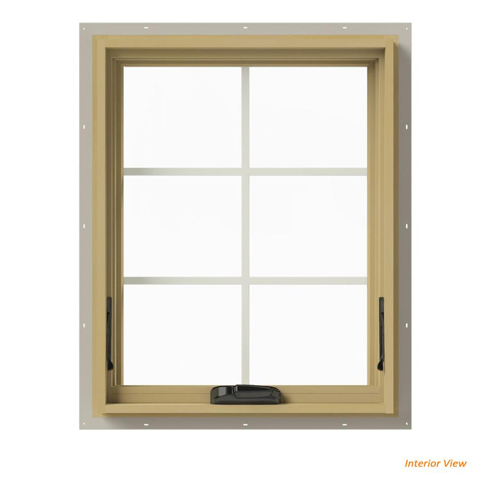 36 in. x 30 in. W-2500 Series Desert Sand Painted Clad