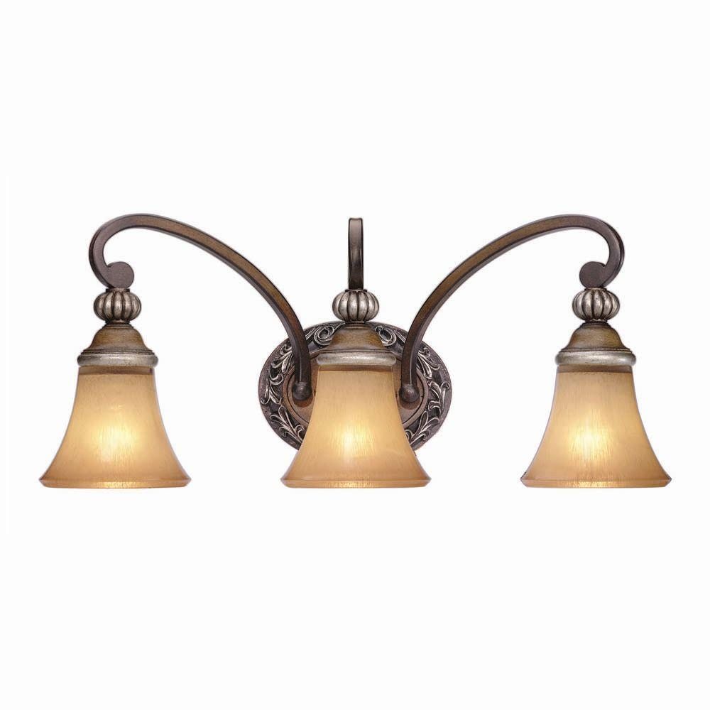 Hampton Bay 3-Light Caffe Patina Bath Light